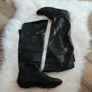 over the knee black boots (chinese laundry)